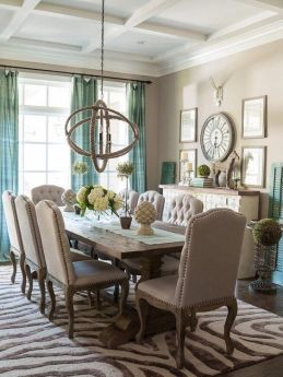 Unique dining room design ideas with french style 12