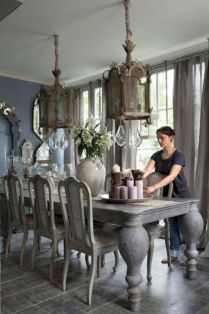 Unique dining room design ideas with french style 18