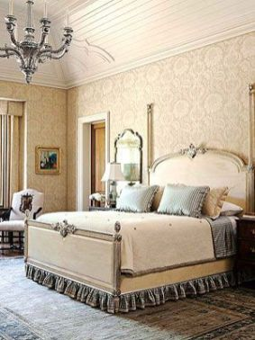 Awesome french style bedroom decor ideas 25