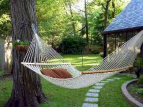 Best backyard hammock decor ideas 45