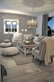 Charming gray living room design ideas for your apartment 06