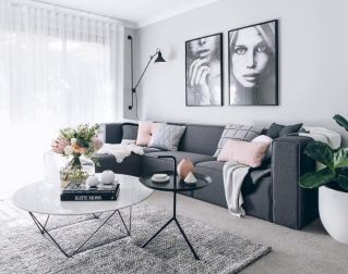 Charming gray living room design ideas for your apartment 15