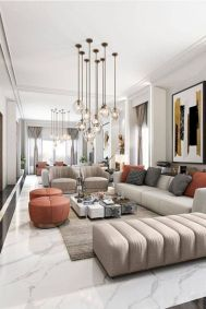 Charming gray living room design ideas for your apartment 19