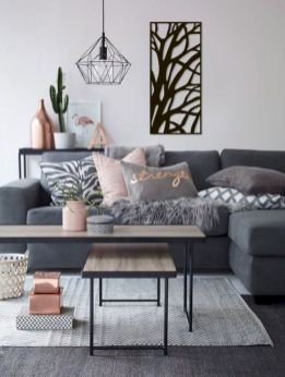 Charming gray living room design ideas for your apartment 24