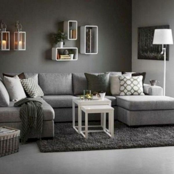 47 Charming Gray Living Room Design Ideas For Your Apartment