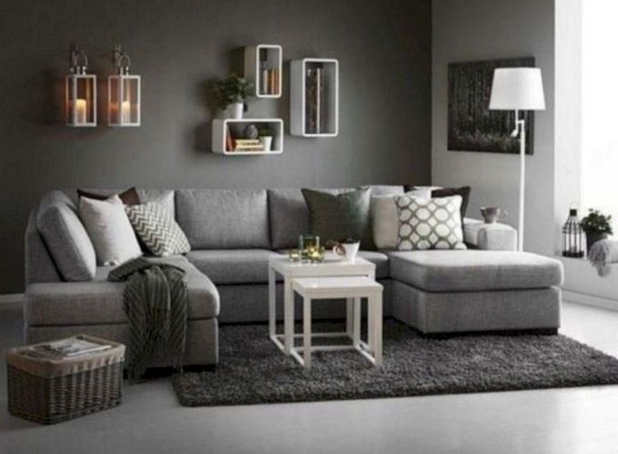 Charming gray living room design ideas for your apartment 28