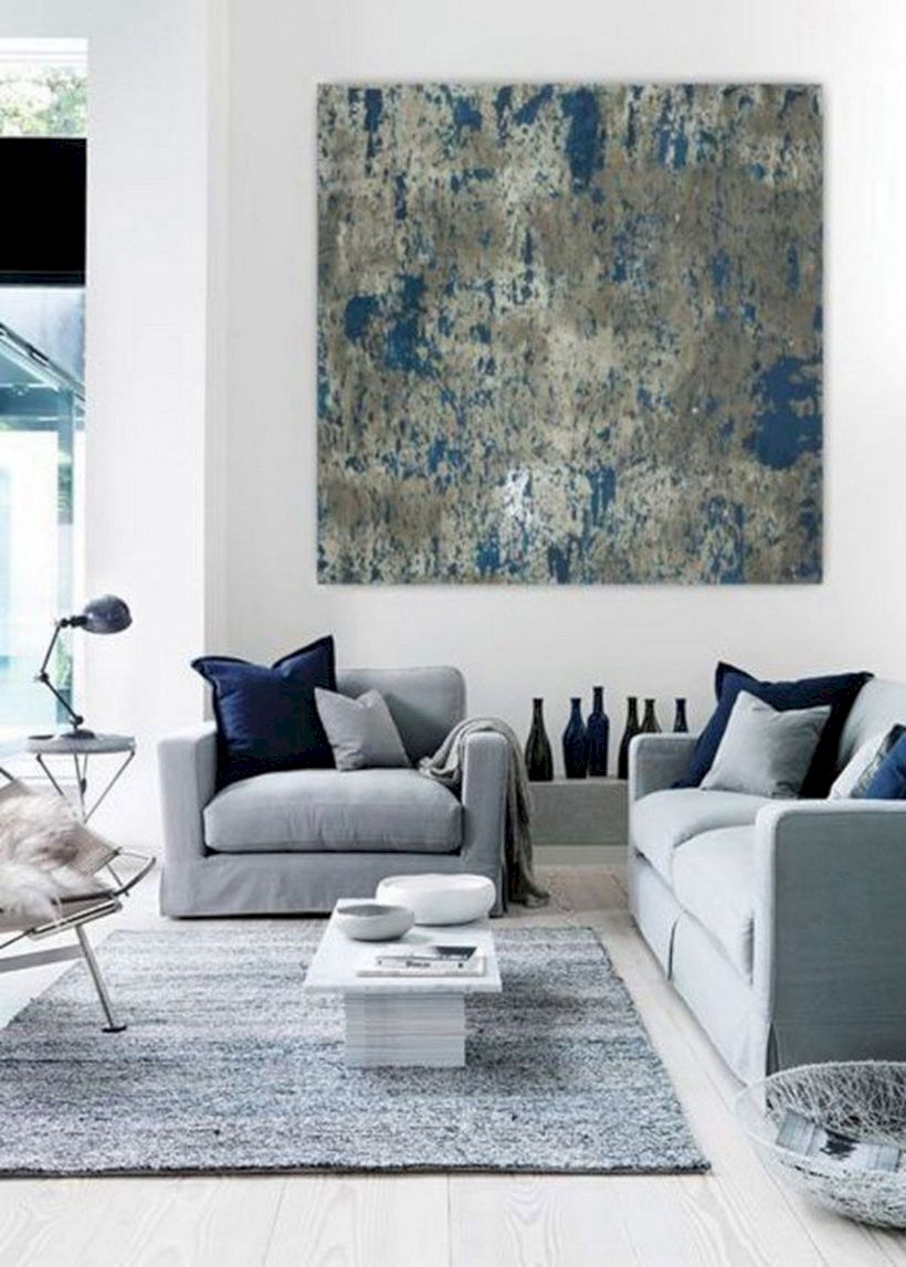 Charming gray living room design ideas for your apartment 35