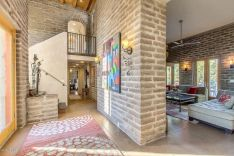 Colorful brick wall design ideas for home interior ideas 06