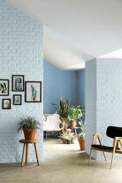 Colorful brick wall design ideas for home interior ideas 09