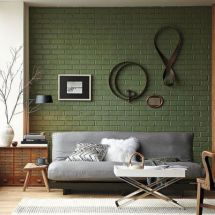 Colorful brick wall design ideas for home interior ideas 32