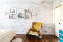 Colorful brick wall design ideas for home interior ideas 44