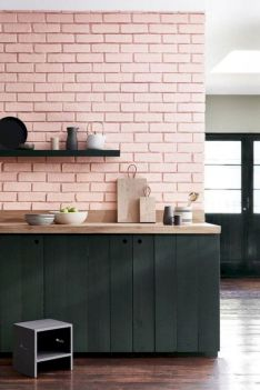Colorful brick wall design ideas for home interior ideas 46