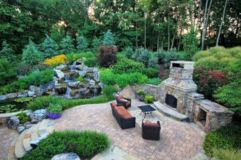 Comfy green country backyard remodel ideas 04