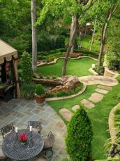 Comfy green country backyard remodel ideas 27