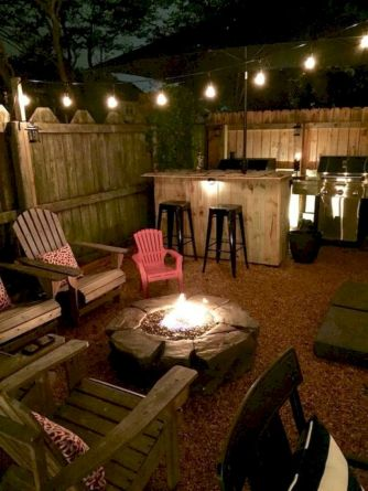 Comfy green country backyard remodel ideas 37