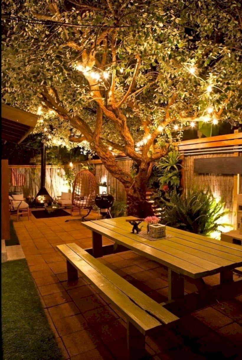 Comfy green country backyard remodel ideas 38
