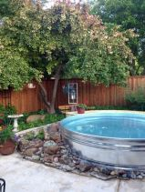 Comfy green country backyard remodel ideas 42