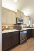 Cozy color kitchen cabinet decor ideas 15