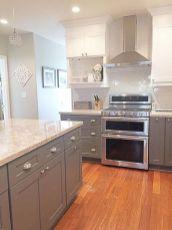 Cozy color kitchen cabinet decor ideas 22
