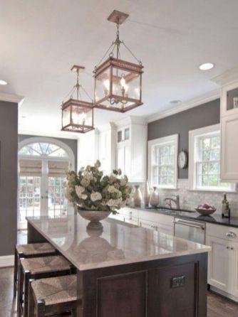 Cozy color kitchen cabinet decor ideas 31