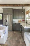 Cozy color kitchen cabinet decor ideas 41