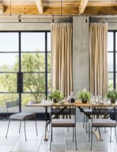 Elegant industrial metal chair designs for dining room 04