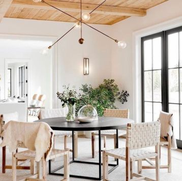 Elegant industrial metal chair designs for dining room 05