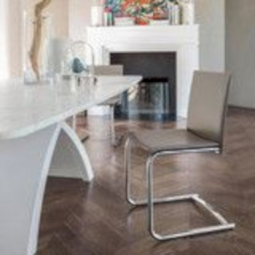 Elegant industrial metal chair designs for dining room 07