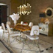 Elegant industrial metal chair designs for dining room 15