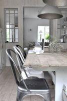 Elegant industrial metal chair designs for dining room 33