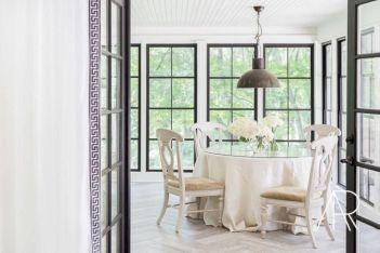 Elegant industrial metal chair designs for dining room 35