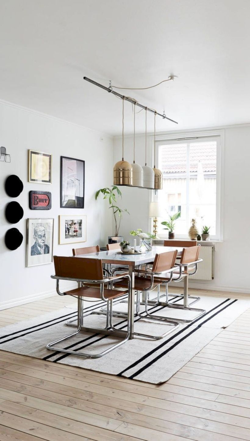 Elegant industrial metal chair designs for dining room 39