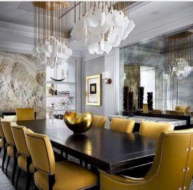 Elegant industrial metal chair designs for dining room 41