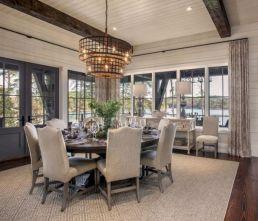 Elegant industrial metal chair designs for dining room 49