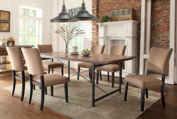 Elegant industrial metal chair designs for dining room 50
