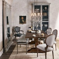 Elegant industrial metal chair designs for dining room 51