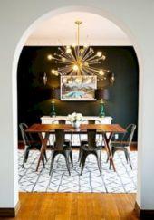 Elegant industrial metal chair designs for dining room 52