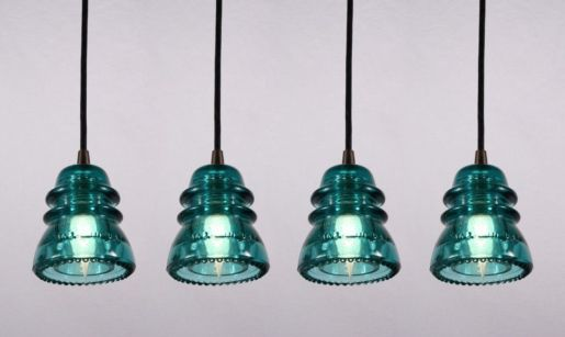 Fascinating colorful glass pendant lamps ideas for your kitchen 10