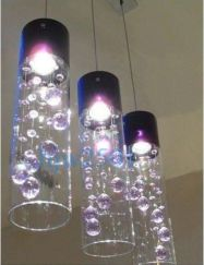 Fascinating colorful glass pendant lamps ideas for your kitchen 38