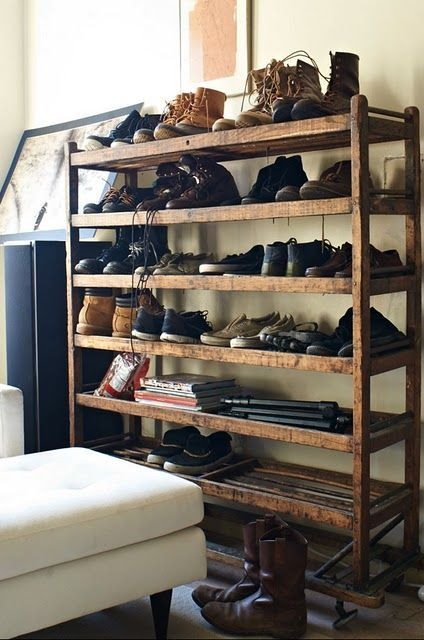 Luxury antique shoes rack design ideas 32