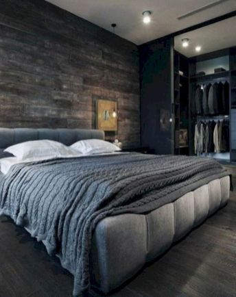 Modern tiny bedroom with black and white designs ideas for small spaces 10