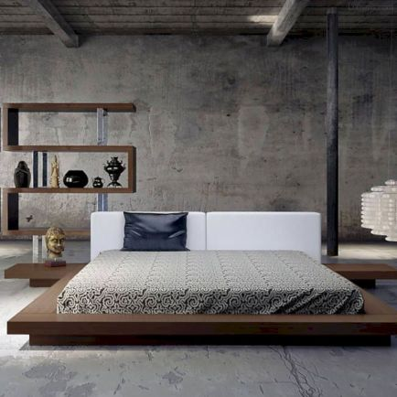 Modern tiny bedroom with black and white designs ideas for small spaces 12