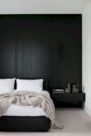 Modern tiny bedroom with black and white designs ideas for small spaces 31