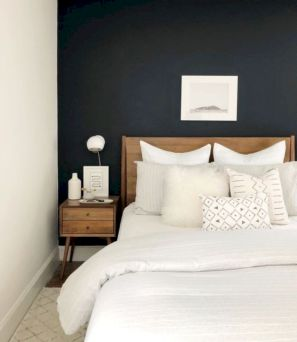 Modern tiny bedroom with black and white designs ideas for small spaces 36