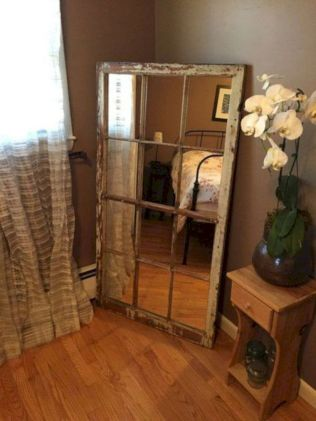 Newest diy vintage window ideas for home interior makeover 32