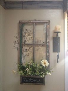 Newest diy vintage window ideas for home interior makeover 35