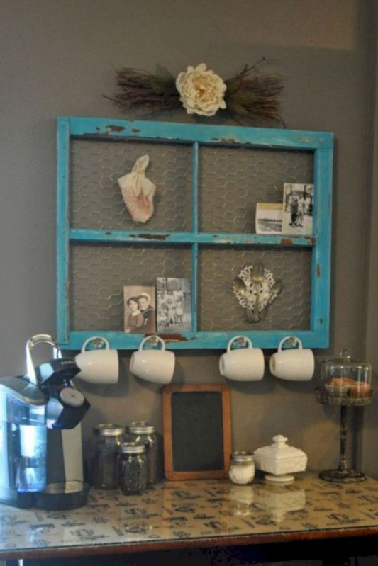 Newest diy vintage window ideas for home interior makeover 48