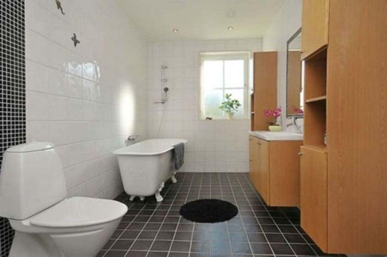 Shabby chic blue shower tile design ideas for your bathroom 01
