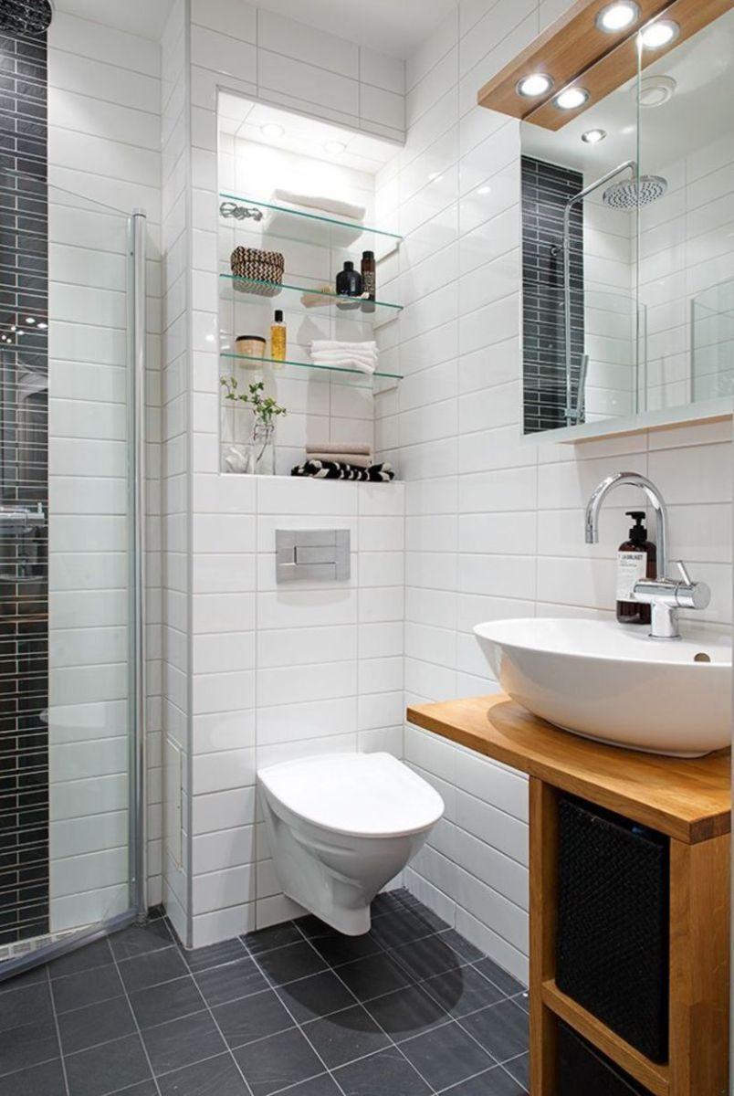 Shabby chic blue shower tile design ideas for your bathroom 14