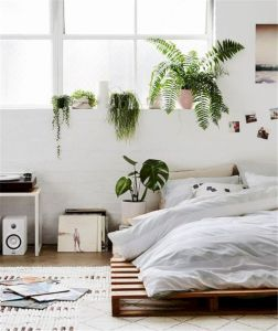 Unique white minimalist master bedroom design ideas 03